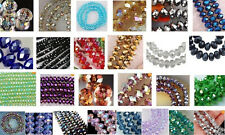 Wholesale 27 colors 4x6mm Crystal Faceted Roundel Loose Beads Gems 5040 100pcs
