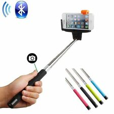 Selfie Handheld Monopod Stick Holder Bluetooth Wireless Remote for Cell Phone US