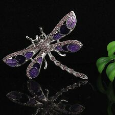 Wholesale Best Gift Dragonfly 6 Colors Rhinestone Crystal Alloy Lady Pin&Brooch