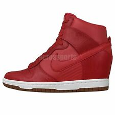 Nike Wmns Dunk Sky Hi Red Womens Hidden Heel Wedges Fashion Casual Shoes
