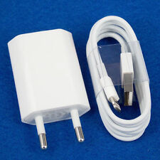 New US EU Euro European Wall Charger+8 Pin to USB Data Cable for iPhone 5C 5S 6