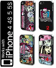 Monster High iPhone 4 4s 5 5s Hard Phone Case Cover Draculaura Frankie Lagoona
