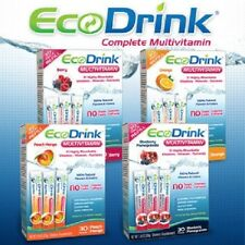 Eco Drink EcoDrink Complete Multivitamin Mix -30 Packets PICK Flavor - NEW