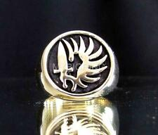 BRONZE SIGNET RING FRENCH FOREIGN LEGION ARMY MERCENARY FORCES ANTIQUED ANY SIZE
