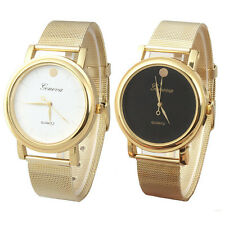 New Lady Style Gold Classic Womens Quartz Stainless Steel Wrist Watch Hottest