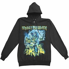 IRON MAIDEN Somewhere Back In Time Zip Up M L XL XXL Hoodie Sweatshirt NEW