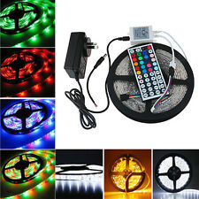 Warm/Cool White 16.4ft 5M 3528RGB SMD Waterproof 300LED Strip Light+Remote+Power