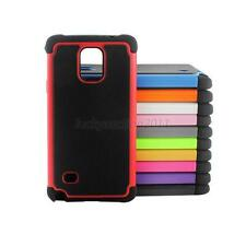 Hybrid Rubber Rugged Combo Matte Hard Phone Cover Case Skin Fr GALAXY Note 4 L58