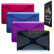 Amazon Kindle Fire HD 6 Inch Gel Protective Case Skin Cover +Screen Protector