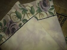 CROSCILL CHAMBORD CASSIS KING OR QUEEN PILLOWCASES AMETHYST FLORAL SAGE
