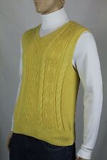 Ralph Lauren Yellow Cashmere Cable Knit Sweater Vest NWT $145