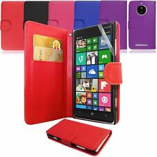 PU Leather Wallet Flip Case Cover & Screen Film FOR Nokia Lumia 830 Models