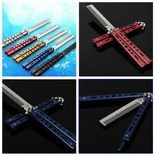 1pcs Outdoor Practice Training Butterfly Balisong Style Knife Comb Cool Sports W