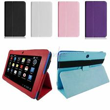 "New Folio PU Leather Case Stand Cover for 7"" iRulu A13/A23/A33 Android Tablet"