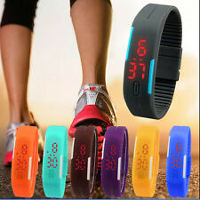 C hot Wristwatches For Men Womens Slim Silicone Bracelet LED Sport Gift Cheap