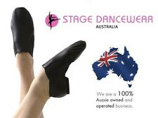 NEW Slip On Jazz Shoes, Split Sole, Black, Children's and Adults sizes