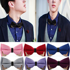 Men's Tuxedo Classic Bowtie Pre Tied Wedding Party Fancy Plain Necktie Bow Tie