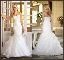 2015 White/Ivory Mermaid Wedding dresses Bridal Gown In Stock Size 2-16