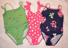 Gymboree GARDEN FRIENDS Ladybug or Dot Swimsuit Green Blue or Pink Choice NWT