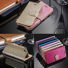 Flip Shine Glitter Stand Wallet Card Case Cover Leather For Various Mobile Phone