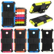 For Nokia Lumia 630 635 Hybrid Impact Armor Rugged Hard Stand Case Cover Skin
