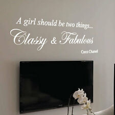 Coco Chanel Classy and Fabulous Fashion Art Wall Stickers Quote Wall Decals