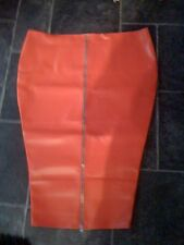THE FEDERATION FAUX LEATHER  LONG HOBBLE SKIRT  ZIP FRONT NEW