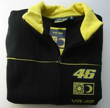 SWEATSHIRT Zip Adult Bike Moto GP Valentino Rossi VR 46 NEW! Black & Yellow