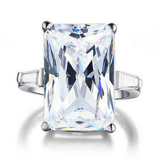 8.5 ct Rectangle Radiant Cut Zopius Lab Created Diamond 925 Silver Ring FR8117