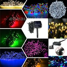 Mix-color Solar Power 100/200 LED 3 style String Fairy Light Outdoor Christmas#2