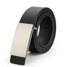 Fashion Mens Genuine Leather Metal Automatic Casual Dress Waist Band Strap Belts
