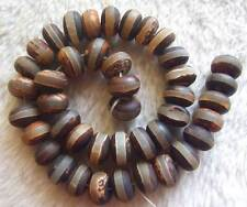 7x12mm 11x15mm 11x14mm Handmake Matte Old Agate Roundel Loose Beads Strand 15.5""