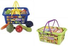 Casdon Kids Shopping Basket pretend Play Food Fruit Vet Grocery Childrens Toy