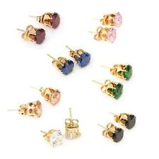 Crystal Zircon 18K Gold Plated Elegant Ear Stud Earring Jewelry for Women Lady