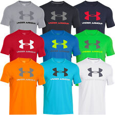 Under Armour 2015 Mens Charged Cotton Sportstyle Logo T Shirt UA Gym Stretch Tee