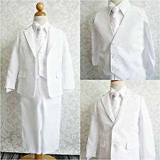 LTF WHITE BOY FIRST COMMUNION BAPTISM WEDDING PARTY FORMAL DRESS SUIT ALL SIZES