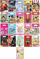 8 PARTY LOOT BAGS - Range of LICENSED CHARACTER DESIGNS(Birthday Supplies){Set2}