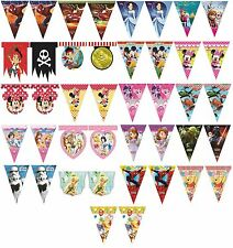 PARTY FLAG BANNER BUNTING - LICENSED CHARACTER DESIGNS Range (Birthday){Set2}