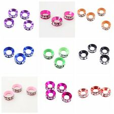 12/60x New Clear Rhinestones Alloy Spacer Beads Fit Bracelets Making 9 Colors BS
