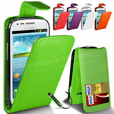 Flip Leather Wallet Case Cover For Samsung Galaxy S3 Mini i8190 Screen Protector