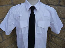 Security Pilot Police Prison Officer white short sleeve Shirt NEW epp loops