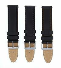 18-19-20-22-24MM GENUINE LEATHER WATCH BAND SMOOTH STRAP FOR BREITLING BLACK #16