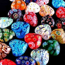 Pick 6&8&10&12mm.Wholesale MultiColor Shining Heart Millefiori Glass Beads.#BX