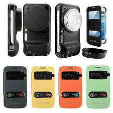 Windows S-view Flip Leather Cellphone Case Cover For Samsung Galaxy S4 Zoom C101