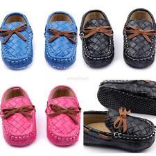0-12M Baby Girls Boys Loafers Soft PU Leather Flat Slipper Toddler Crib Shoes