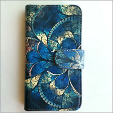 Brand new Blue Shell pattern wallet Flip case cover for Samsung/iphone/Nokia/HTC