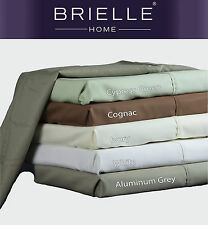 BRIELLE COTTON RICH BLEND SATEEN 600TC SHEET SET NEW INTRODUCTORY PRICE