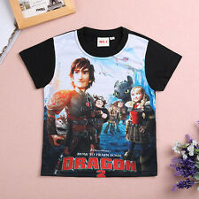 New 2-7 How to Train Your Dragon Kids Boys Girls Short Sleeve T-Shirt Tops