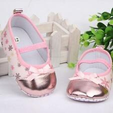 Toddler Baby Girls Bowknot Mary Jane Crib Shoes Shoes Non-Slip Walking Shoes A73