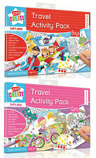 Childrens Travel Activity Packs Holiday Puzzles Colouring Car Aeroplane Games